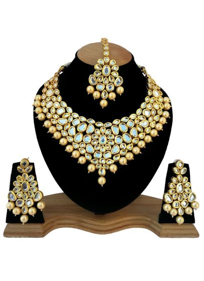 Kundan Studded Gold Plated Necklace