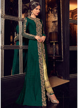 Green Jacket Style Embroidered Pant Suit
