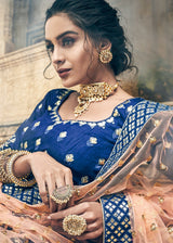 Gota Patti Embellished Lehenga Choli in Blue