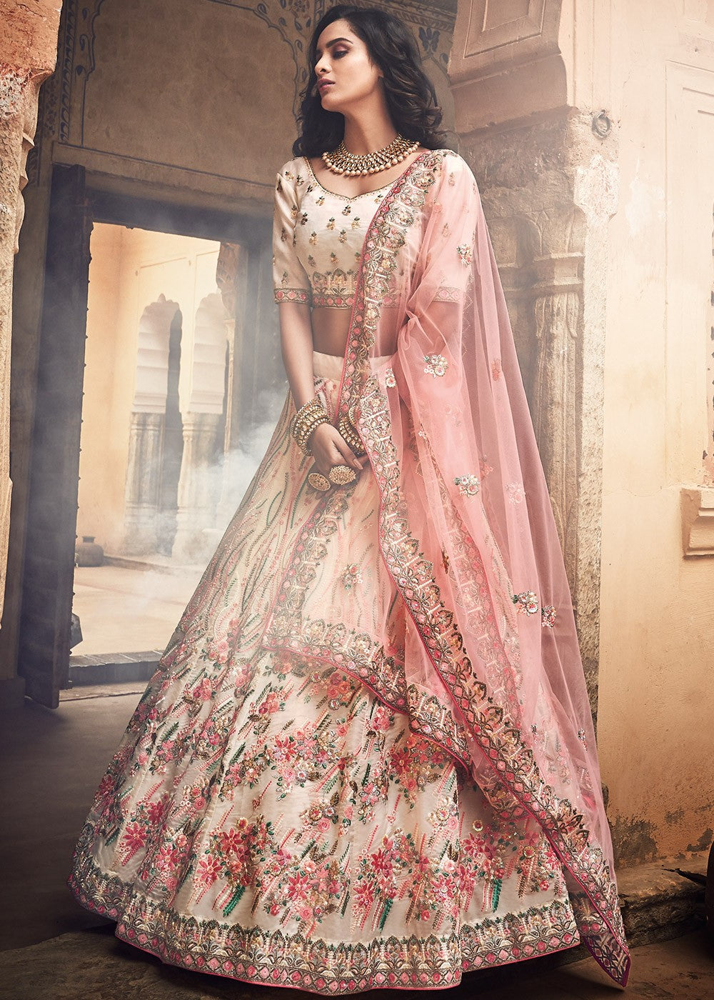 Embroidered Organza Lehenga Choli Haya Creations