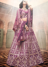 Gota Patti Embellished Lehenga Choli in Purple