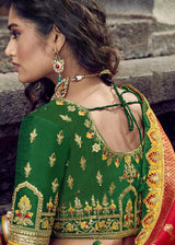 Yellow Art Silk Jacquard Lehenga Choli