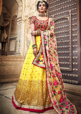 Yellow Sequins Embellished Lehenga Choli