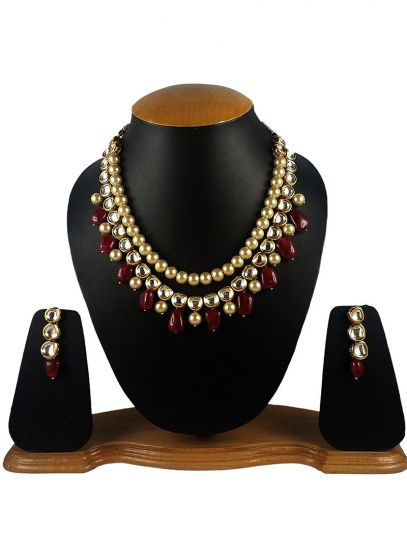 Kundans Studded Gold Plated Necklace