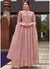 Embroidered Anarkali Salwar Kameez in Pink