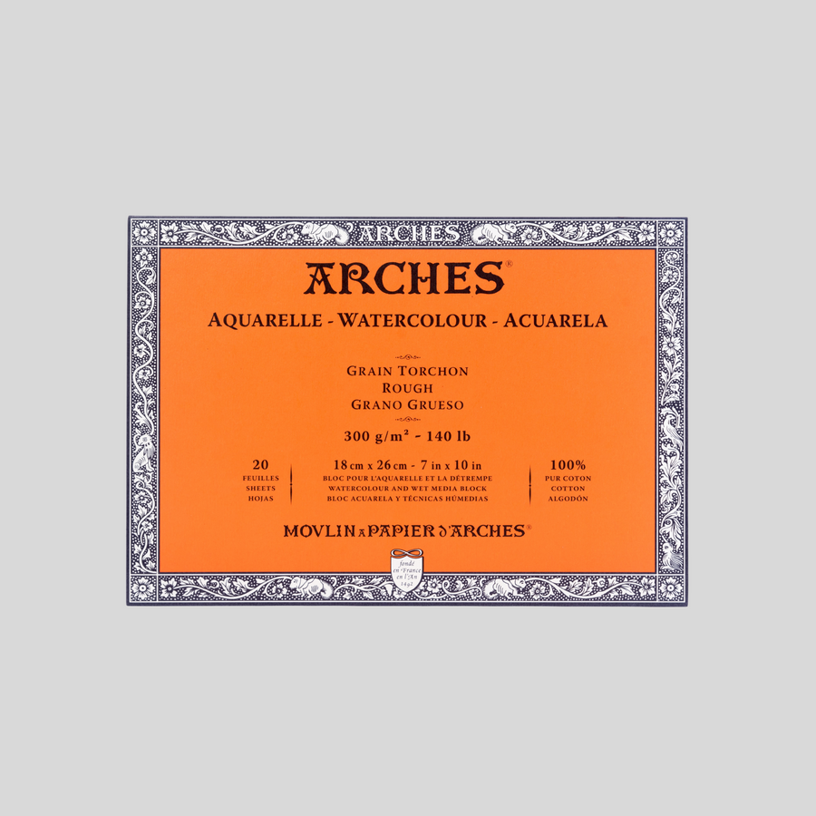 "Arches Block Pad 7"" x 10"""
