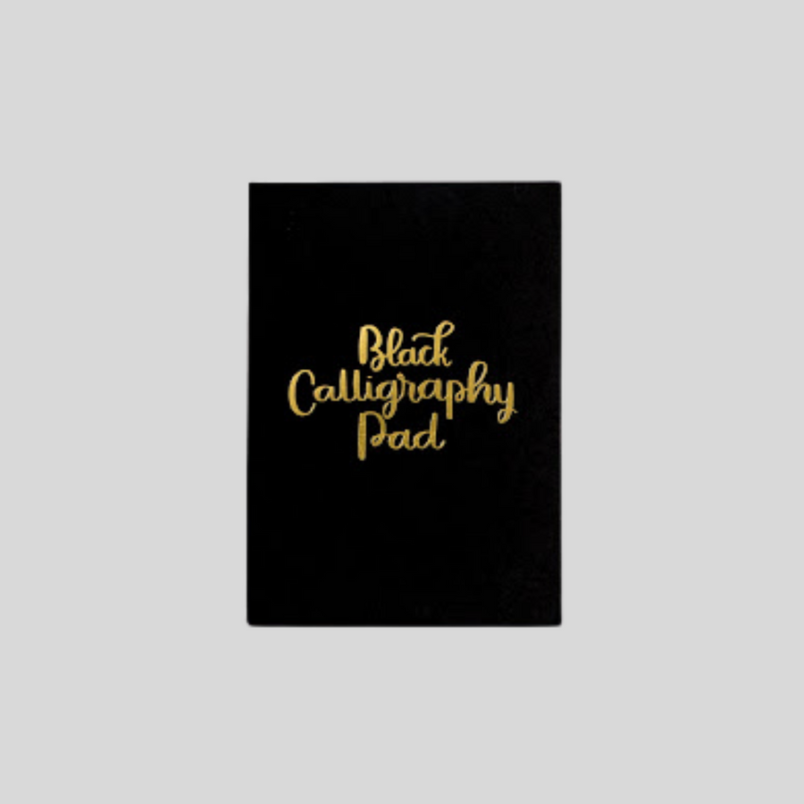 Black Calligraphy Pad