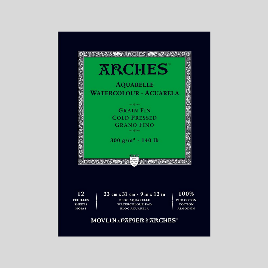 Arches Block Pad 300g 9'' x 12'' (20 sheets)
