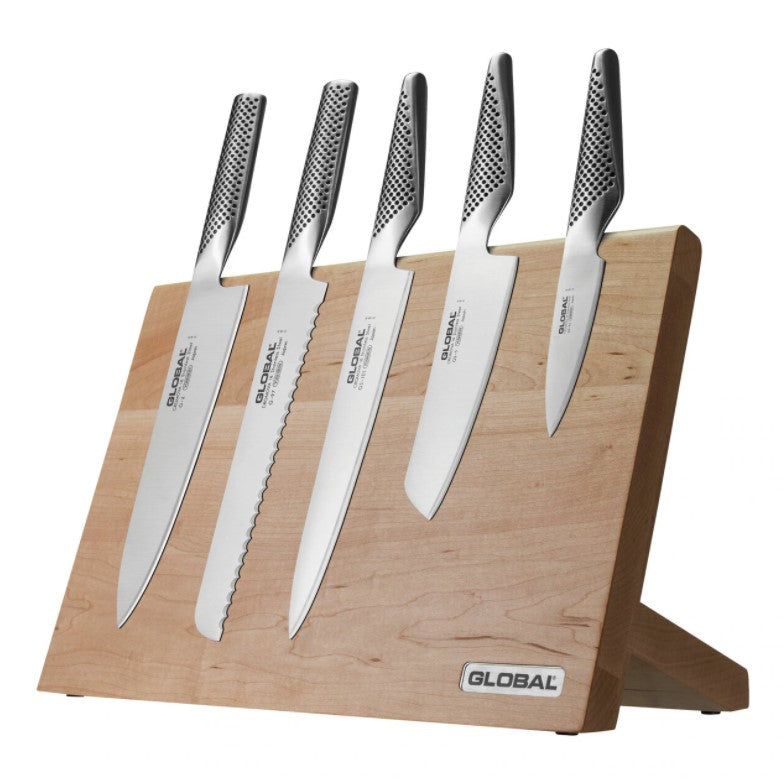 Global Takumi Knife Block Set - Maple