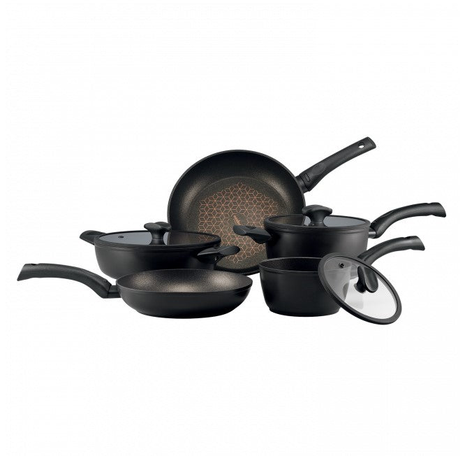 Essteele Per Salute 5 Piece Cookware Set 16Cm/1.4L & 20Cm/2.9L Covered Saucepans, 24&28Cm Open French Skillets, 24Cm/2.8L Covered Sauteuse