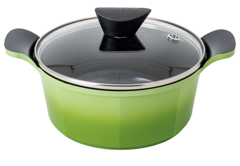 Neoflam Venn 20cm Casserole 2.40L Green Induction with Glass Lid
