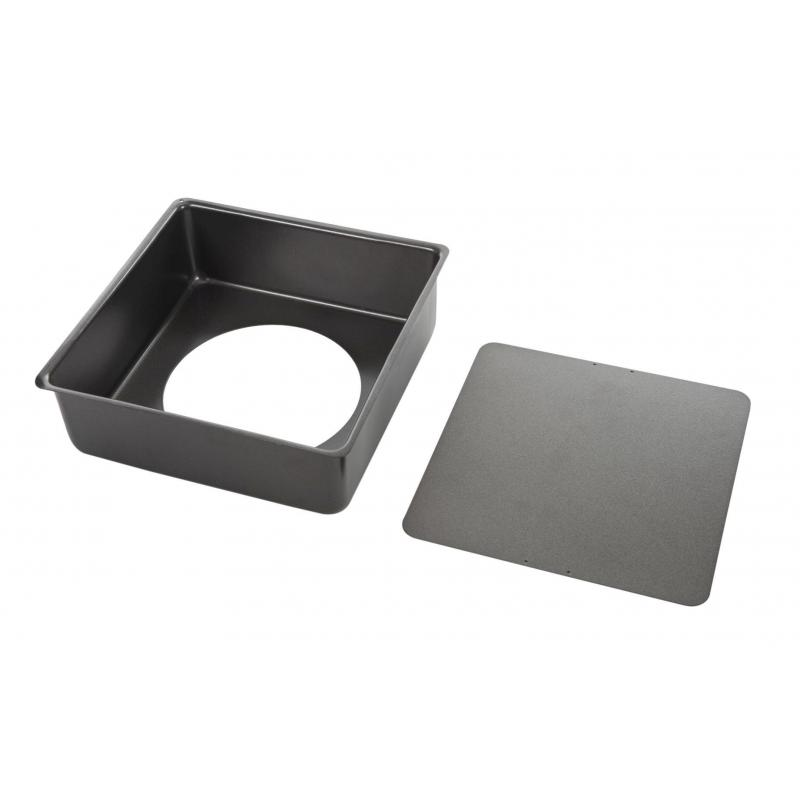 MasterPro Non-stick Loose Base Square Deep Cake Pan External 24.5x24.5x8cm/Internal 23x23x8cm