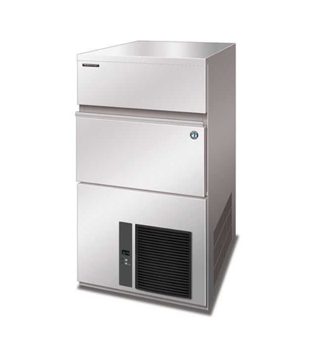 Hoshizaki Ice Machine Solid Cube 28mm 88kg per day -50kg storage Operating Ambient: 1-40°C 704W x 506D x 1292H mm