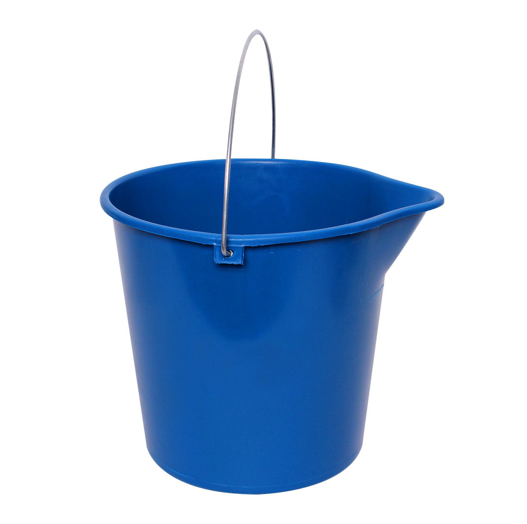 Sabco 10L Round Bucket with Metal Handle Blue