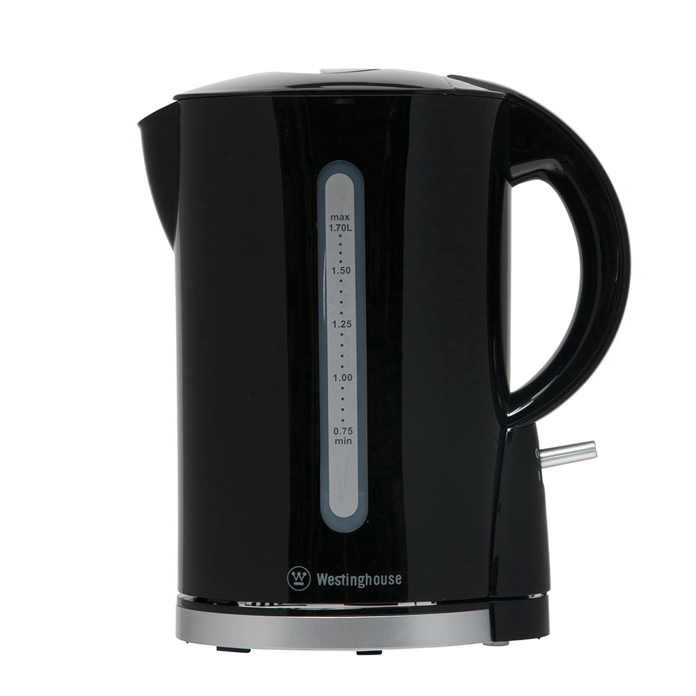 Westinghouse Kettle, 1.7L, Black Plastic 6/Carton