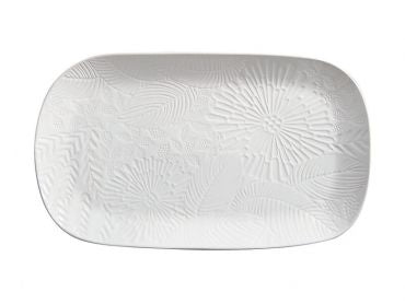 Maxwell and Williams Panama Oblong Platter 39x23cm White Gift Boxed