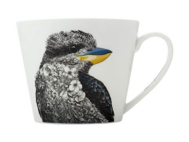 Maxwell and Williams Marini Ferlazzo Birds Mug 450ML Sqt Kookaburra Gift Boxed