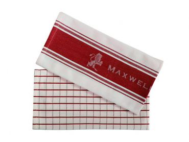 Maxwell and Williams Epicurious Tea Towel 50x70cm Set of 2 Red