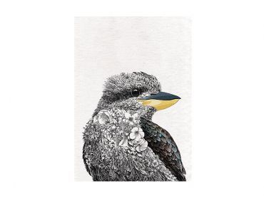 Maxwell and Williams Marini Ferlazzo Birds Tea Towel 50x70cm Kookaburra