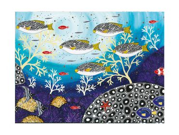 Maxwell and Williams Melanie Hava Jugaig-Bana-Wabu Tea Towel 50x70cm Goldman Sweetlips