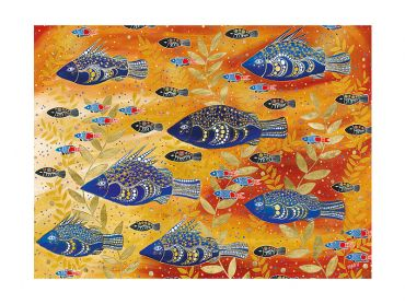 Maxwell and Williams Melanie Hava Jugaig-Bana-Wabu Tea Towel 50x70cm River Life