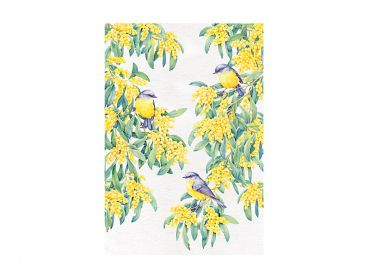 Maxwell and Williams Royal Botanic Gardens - Garden Friends Tea Towel 50x70cm Robin