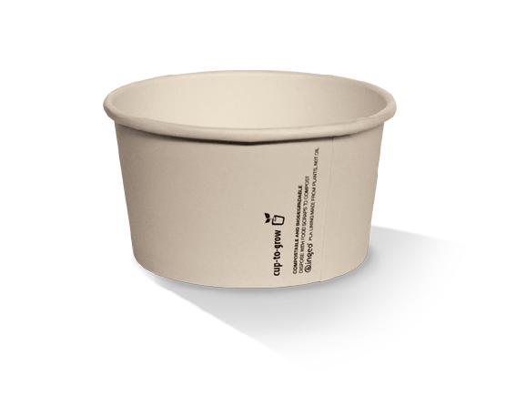 Greenmark 5oz PLA Coated Ice-Cream Cup 86x69x55 Ctn/1000