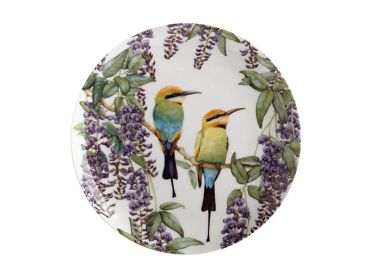 Maxwell and Williams Royal Botanic Gardens - Garden Friends Plate 20cm Rainbow Bee-Eater Gift Boxed