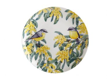 Maxwell and Williams Royal Botanic Gardens - Garden Friends Plate 20cm Robin Gift Boxed