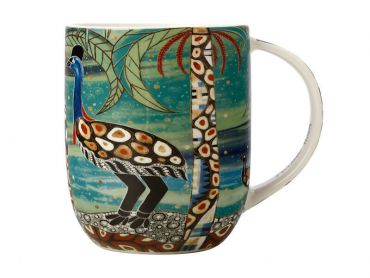 Maxwell and Williams Melanie Hava Jugaig-Bana-Wabu Mug 440ML Cassowaries Home Gift Boxed
