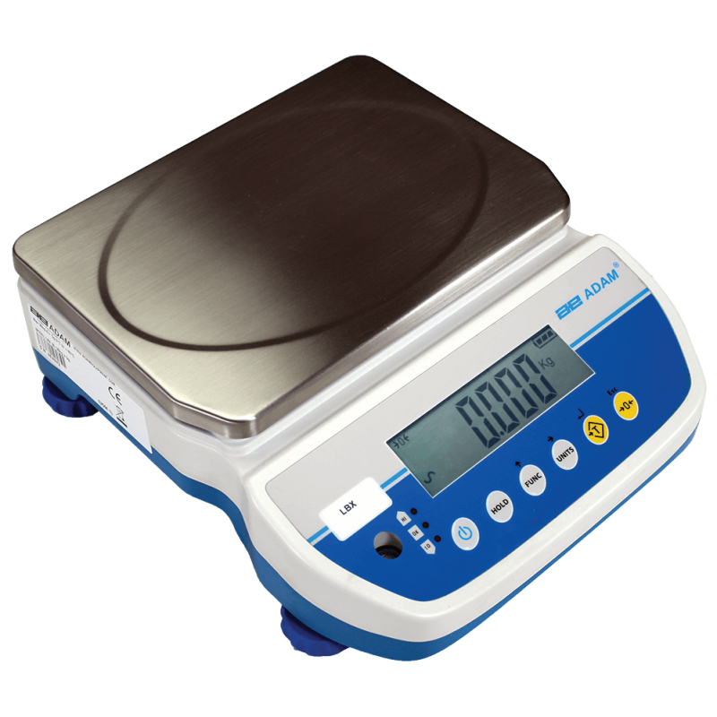 Adam LBX Scale 30kg x 5g Rechargeable Battery and Mains Power 2 Yr Warranty