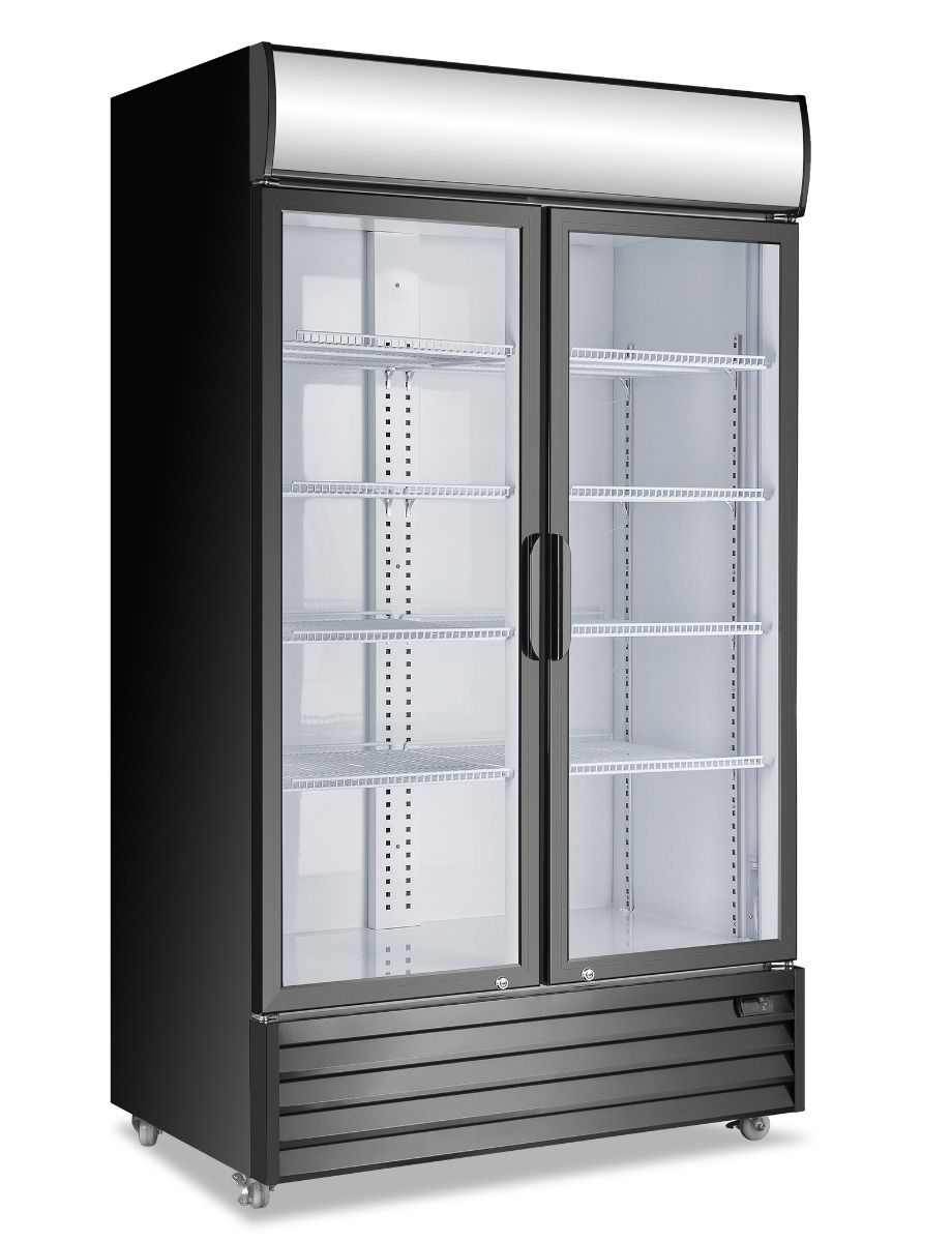 Atosa Double Glass Door Mounted Fridge