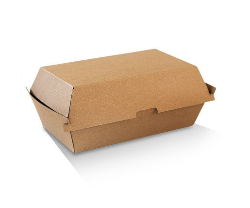 Snack Box - Regular / Brown Corrugated Kraft / Plain 176x91x85 Ctn/200