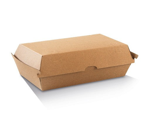 Snack Box - Large / Brown Corrugated Kraft / Plain 205x106x76 Ctn/200