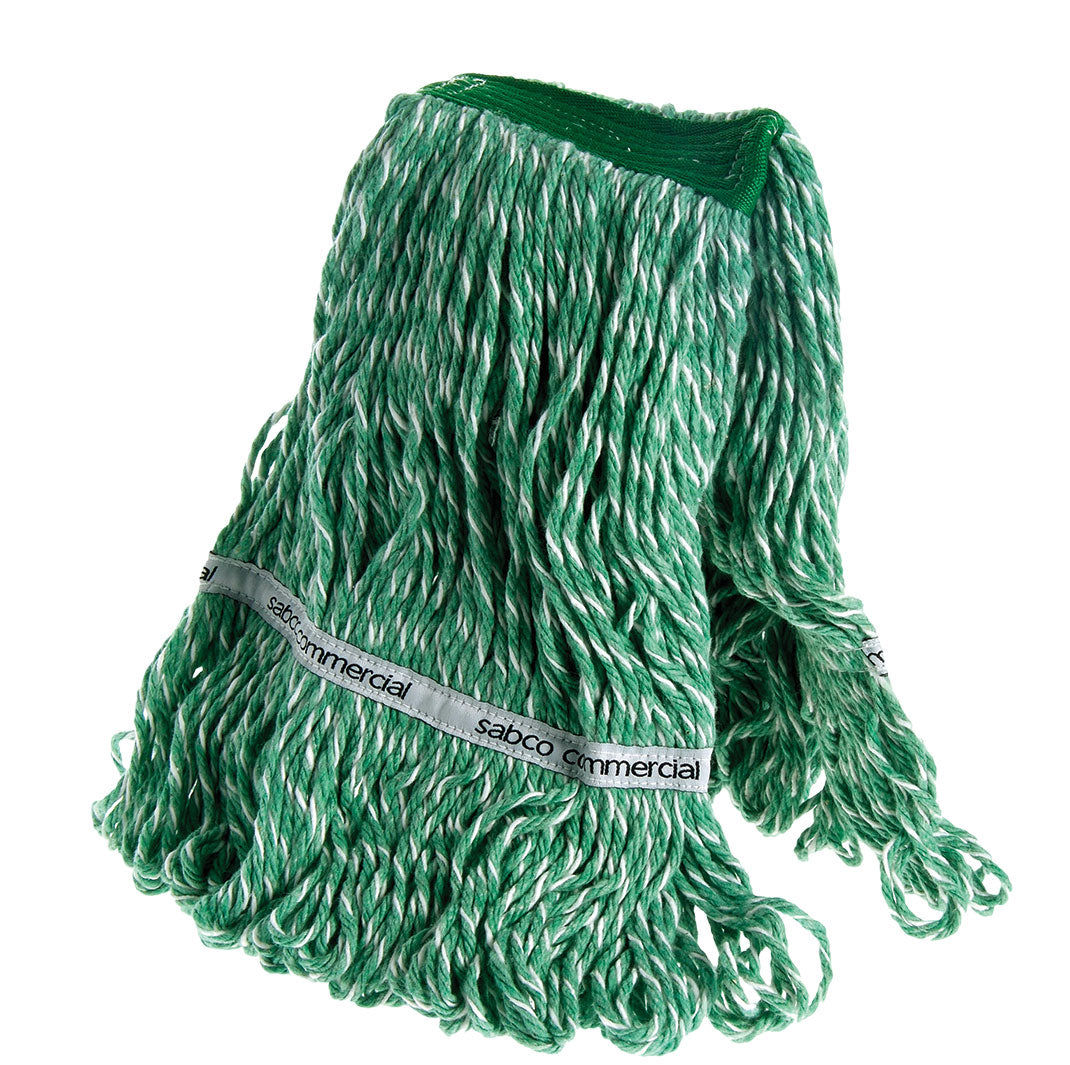 Sabco 350G Ultimate Pro Premium Loop Banded Mop Head Green