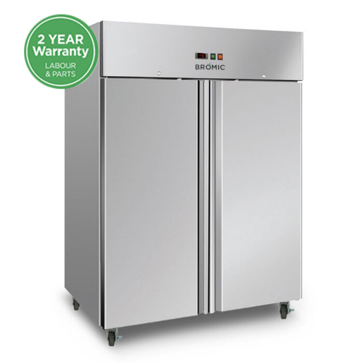 Bromic Gastronorm Storage Freezer 1300L double door 1480w x830d x 2010h mm