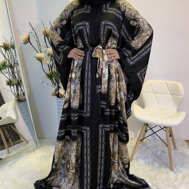 Printed Design Butterfly Abaya