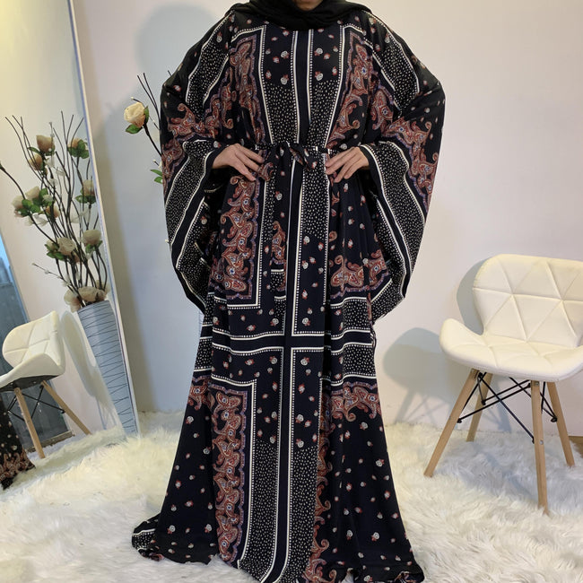 Printed Design Butterfly Abaya - Arabian Boutique