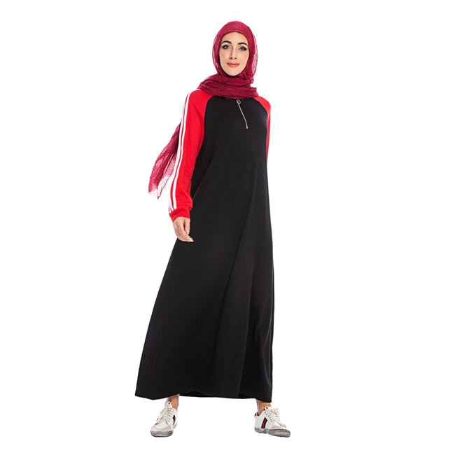 Sporty Hooded Abaya - ArabiaBoutique