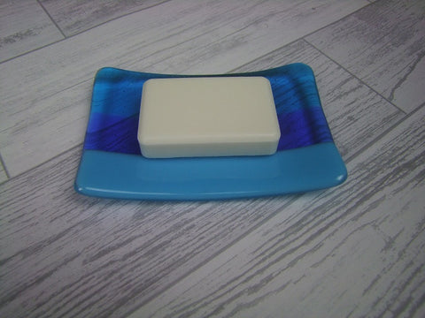 Soap Dish - Blue Stripes (3)