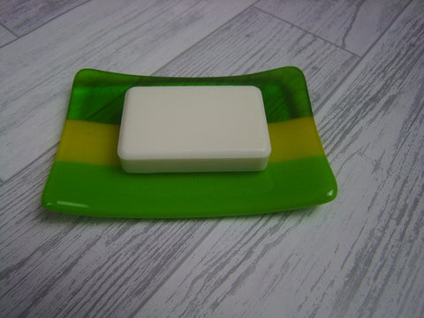 Soap Dish - Greens & Yellow (2)