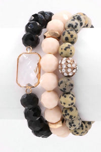 Chasin' You faceted bread bracelet set