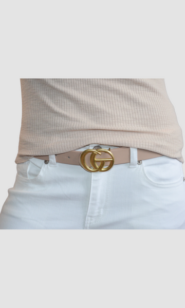 Good Things Faux Leather belt (Taupe)