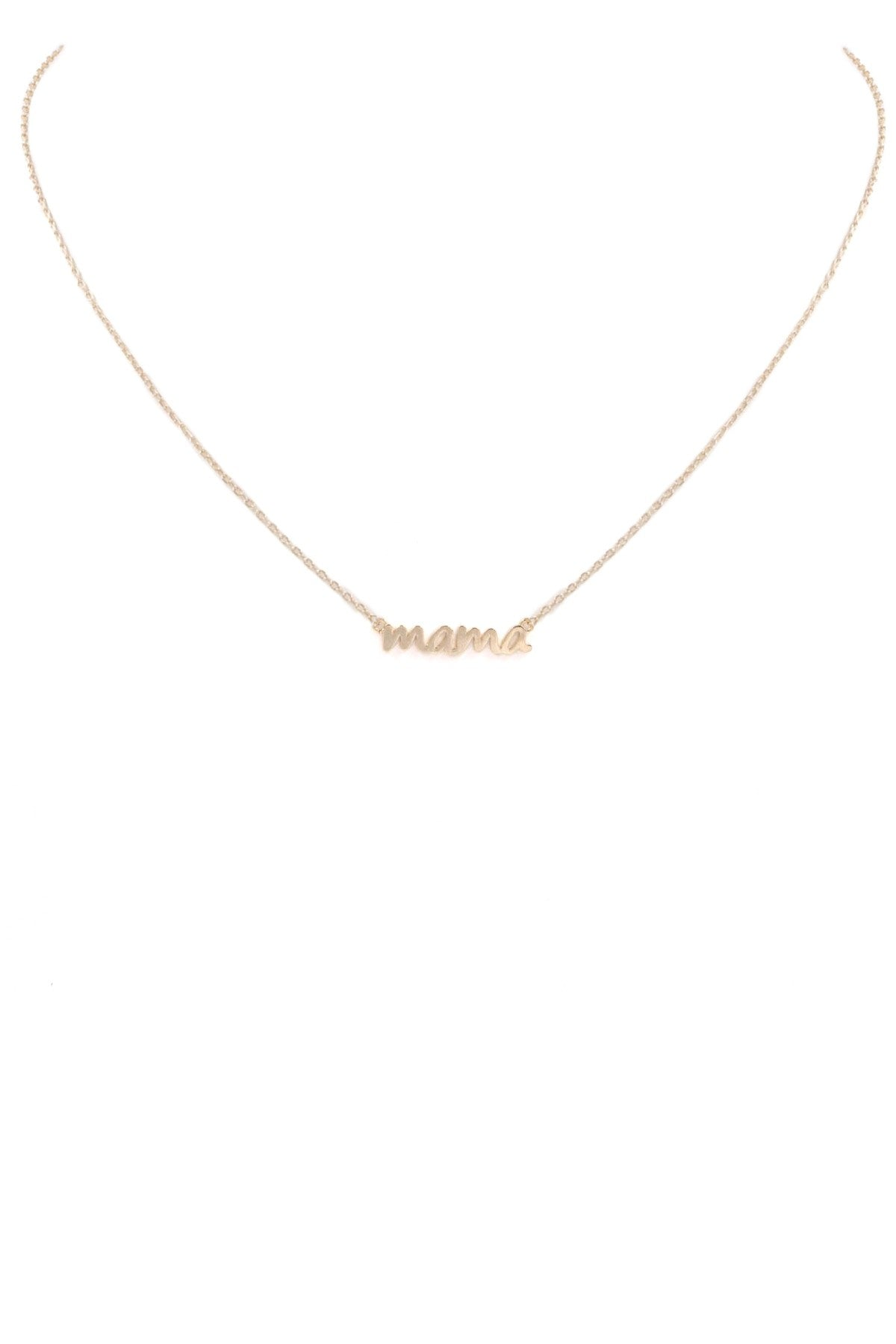 "With Love brass metal ""mama"" pendant necklace"