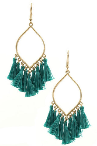 Lovely Day tassel earrings (Turquoise)