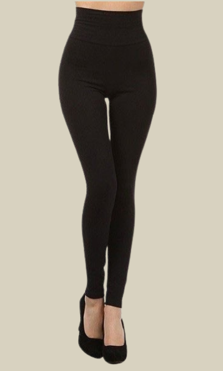 Sarah soft fleece lined leggings (Black)