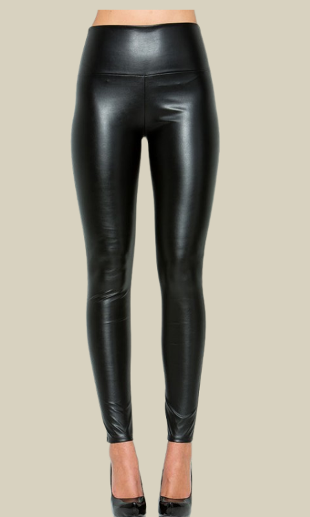 Hall of fame high rise faux leather leggings