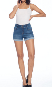 The Bailey frayed hem denim shorts (Medium)