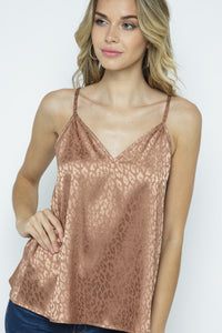 Sweet Dreams taupe animal print cami