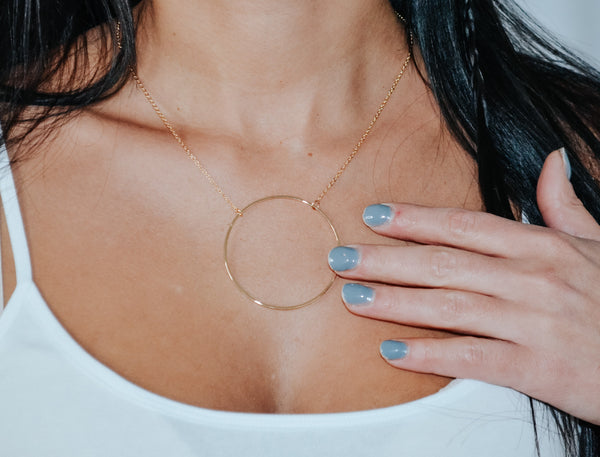 Next To You metal ring pendant necklace